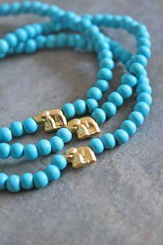elephant~turquoise elephant bracelet
