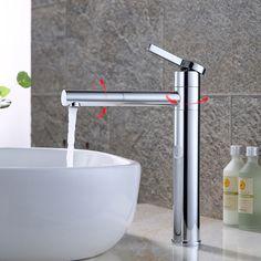 Badarmatur Hoch Wasserhahn Waschtisch Armatur Messing Einhandmischer Armatur