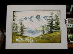 Watercoloring a mountain scene - YouTube