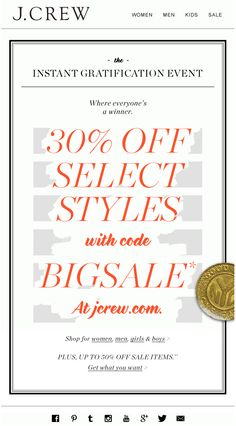 J.CREW : Mystery + Surprise Offer