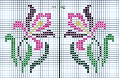 This Pin was discovered by Nec Cross Stitch Numbers, Cross Stitch Borders, Cross Stitch Flowers, Cross Stitch Charts, Cross Stitch Designs, Cross Stitching, Cross Stitch Embroidery, Embroidery Patterns, Cross Stitch Patterns