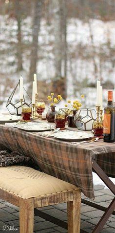 Lake house dining ~ Debbie ❤