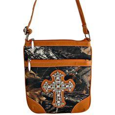 camo+purse   ... COWGIRL CAMO BLING RHINESTONE MESSENGER BAG CROSS BODY PURSE ORANGE