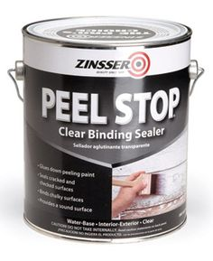 Use binding primers to prevent peeling.Let's face it. Sometimes it's too much work to remove old exterior paint down to bare wood. Zinsser's Peel Stop and XIM's Peel Bond ($22 and $32 a gallon, respectively) are two clear, binding primers that are formulated to seal the edges of paint and prevent peeling. It's a good solution for painting over an area that you've scraped, but that has patches of sound paint you don't want to peel later.