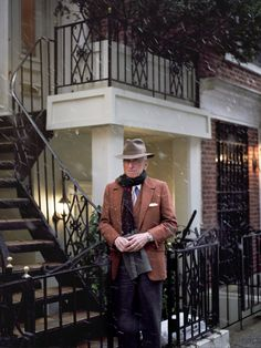 "liamsawthis: ""Gay Talese outside his home in New York """