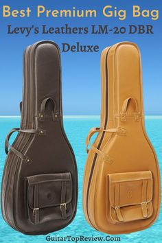Best premium gig bag for acoustic guitar made of genuine leather. Levy's Leathers LM-20 DBR Deluxe. Guitar Bag, Guitar Gifts, Guitar Neck, Cool Guitar, Home Studio Equipment, Home Studio Setup, Amazon Buy, Guitar Accessories, Electric Guitars