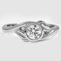 Nature inspired elegance. The other day at work, this mom had a ring like this where the diamond was round and sunk into the ring. GENIUS. That was it doesn't snag or injure yourself or others