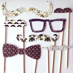 DIY 'Gentleman' Photo Booth Props by lilywillowdesigns on Etsy, $16.95