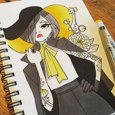 inktober make up 27 #inktober #inkedup #inkgirls #tattoo #copic #micron #flowers http://ift.tt/2grgEct