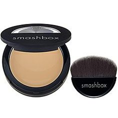 Smashbox Camera SPF 15 Ready Full Coverage Foundation UVA/UVB, Medium M3-M4, 0.3 Ounce. Without being cakey or heavy, this foundation leaves skin looking naturally flawless. Contains a skin-protecting SPF 18. The innovative mirrored compact holds a custom foundation brush designed for seamless application at home or on-the-go.