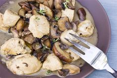 Chicken and Mushroom Saute with Marsala Cream Sauce