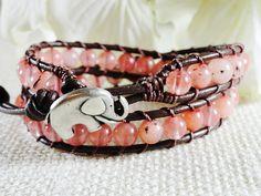 Sacred Elephant Wrap Bracelet  lucky jewelry  by WrappedInLeather, $38.95