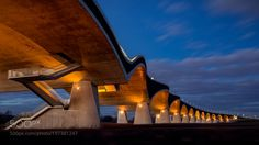 De Oversteek Bridge at Night by xplor-creativity