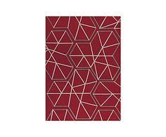 Alfombra artesanal Kinetic Spirit, rojo - 170x240 cm