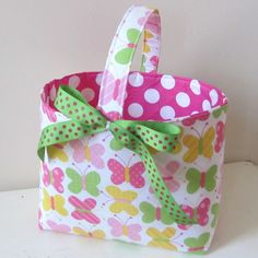 Fabric Easter baskets- Love this!!!
