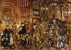 Penn Station at War Time by Joseph Delaney / American Art