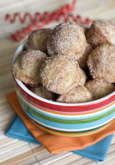 Erica's Sweet Tooth » Baked Mini Churro Bites - my mom used to make these in the Fry Baby (remember those?), but too fattening.  This is a good alternative.