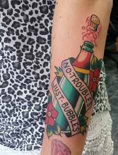 Tattoo by James Matthews at Impact Tattoos. #InkedMagazine #Bubbles #tattoo #tattoos #Inked