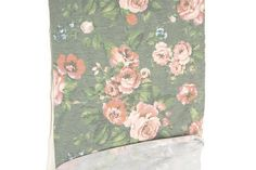 Heather Soft Green and Pink Floral Print Baby French Terry