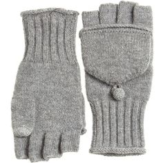 CALYPSO St. Barth Molise Cashmere Flip Gloves ($95) ❤ liked on Polyvore featuring accessories, gloves, hats, cashmere gloves, convertible mitten gloves, convertible mittens, flip gloves and mitten gloves