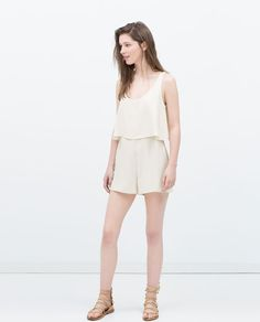 ZARA - WOMAN - SHORT JUMPSUIT WITH CAPE TOP