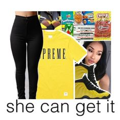 """""""Yellow"""" by jayy-glizzy ❤ liked on Polyvore featuring NIKE"""