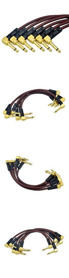 New arrival 6pcs Guitar Patch Cable  21cm 1/4 Inch Right Angle  High Quality  For Instrument Effect Pedal