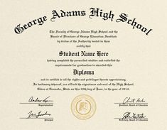 Looking for free Printable High School Diploma Template? ✅ These diploma templates are free to use & can be edited online. Free High School Diploma, High Diploma, College Diploma, Graduation Certificate Template, Certificate Templates, Printable Certificates, Homeschool Diploma, Diploma Online, Gifts