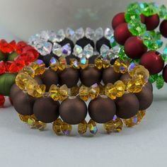 Handmade Napkin Rings with Round Acrylic Beads and by TamsyTrends, $20.00