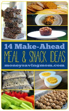 Is it possible to save money on food if you're hardly ever home?! Absolutely! Check out this post for lots of practical ideas and suggestions... plus, 14 delicious make-ahead meal and snack ideas!