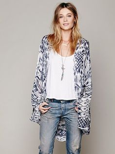 Woven Fringe Poncho by Free People
