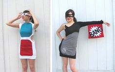 DIY costumes for Halloween, parties, races, etc. SO many costume ideas! Costume Halloween, Halloween Outfits, Fall Halloween, Happy Halloween, Halloween Clothes, Diy Fancy Dress Costumes, Cute Costumes, Costume Ideas, Creative Costumes