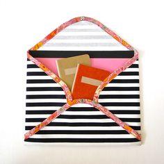 DIY Fabric Envelope | Fabric Paper Glue