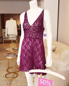Wine-not take advantage of our sale and scoop up this Hanky Panky Retro Chemise at 50% off! {Was $74 now $37}. 2 S 1 M left!  #seasonalsale #endofseason #sale #lace #punny #fabulous #winenot #winedown #tldfairhope