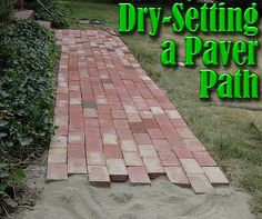 Dry-Setting a Paver Path