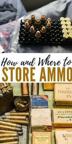 """How and Where to Store Ammo - The first rule is: """"Don't put all your eggs in one basket."""" Divide the ammo you have between 2-3 locations. This not only reduces the hazard but ensures you always have a reserve in case something bad happens to one batch."""