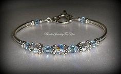 Bridal Party Gift Set of SIX: Light Sapphire Crystal Jewelry, Sapphire Blue Jewelry, Blue Crystal Bracelet, Bridesmaid Gift, Something Blue on Etsy, $161.95
