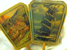 Set of 2 Scenic Hand Fans by GoPlethora on Etsy, $12.00