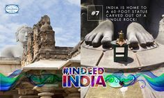 #DidYouKnow that the Gomateshwara Statue, the world's largest monolithic statue, can be seen from a distance of 30 kilometers? Frequented by devotees from all over the world, this architecturally significant statue was voted as one of the Seven Wonders of India. #IndeedIndia #Travel
