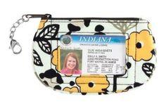 Vera Bradley Clip Zip ID in Go Wild Vera Bradley. $10.99
