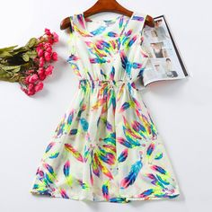 Summer Women Dress Vestido de Festa Flower Print Bohemian Beach Casual Roupas Femininas Desigual Clothes Party Dress Vestidos-in Dresses from Women's Clothing & Accessories on Aliexpress.com | Alibaba Group