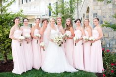 Sweetheart Blush Bridesmaid dresses