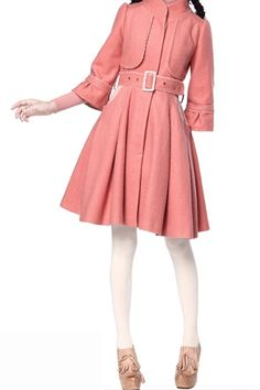 This trench coat crafted in wool and polyester, featuring concealed single breasted to front, medium waist with an adjustable belt, cropped sleeves, detachable scarves with belt, in maxi length cut.$144