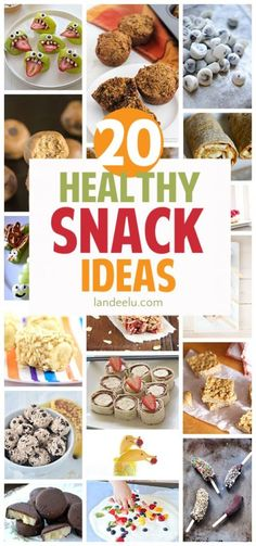 With New Years Resolutions around the corner, try out these healthy recipes for snacks!  Today I've rounded up 20 healthy recipes that I want to try this year for after school, post-workouts, and on-the-go snacks to keep my family's energy up all day long.
