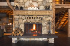 Rustic Fireplace | by Central Oregon Firewood
