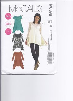 McCalls Pattern M6398 Misses Womens Tunics  half by stephaniesyarn, $9.49