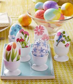 Two techniques for Easy Easter egg decorating: http://www.midwestliving.com/holidays/easter/easy-easter-decorations/