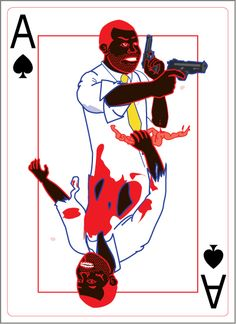 Ace of Spades from ZOMBIE SHUFFLE, a zombie game built around the 52 card deck! Kickstarter: http://kck.st/WuwXTd #WalkingDead #Zombies