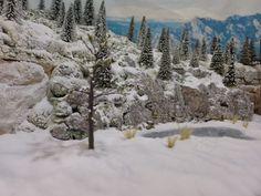 winter scene model train layout - Google Search