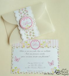 convite floral provençal Communion Invitations, Baby Shower Invitations, Birthday Invitations, Birthday Cards, Birthday Parties, Tea Party Theme, Birthday Party Decorations, Invitation Design, Invitation Cards